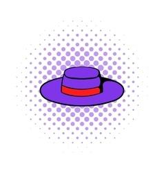 Sombrero hat icon comics style vector