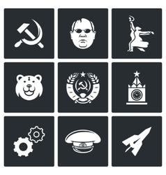 Soviet union icons vector