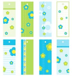 Spring Floral bookmarks vector image vector image