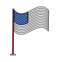 united statae of america flag vector image vector image