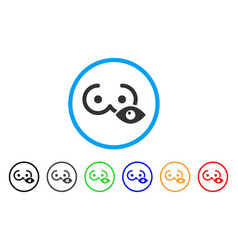 View female tits rounded icon vector