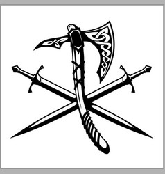Viking warrior emblem vector
