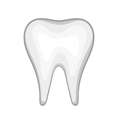 White tooth icon in cartoon style vector image vector image