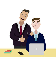 working with quality company best us corporation vector image vector image