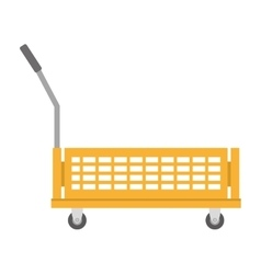 warehouse trolley with protection boxes vector image