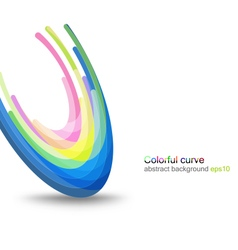 Colorful glossy concave vector