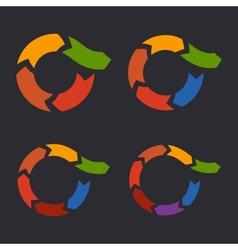 Unusual Circle Arrows Set vector image