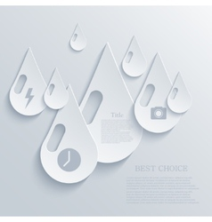 Modern drop background eps 10 vector