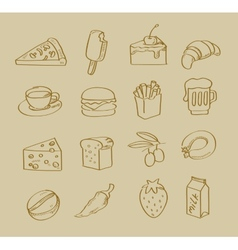 Hand drawn food vector