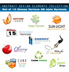 3D design elements vector image