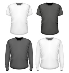 Men t-shirt short and long sleeve vector