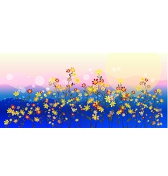 Abstract meadow flowers vector