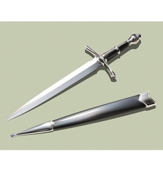 Dagger and scabbard vector