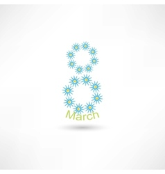 8 march flowers vector image