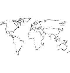 World continents vector