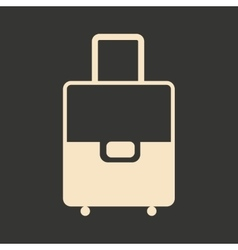 Flat in black and white mobile application travel vector