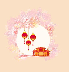 abstract Chinese landscape background vector image vector image