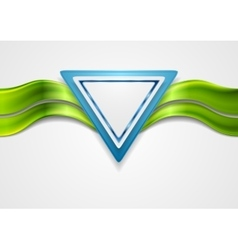 Abstract tech background with triangle and waves vector image vector image