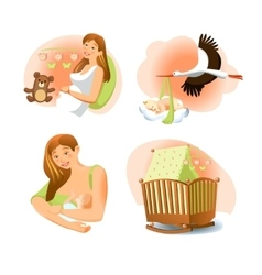 Baby Birth Set vector image