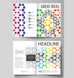 business templates for bi fold brochure flyer vector image vector image