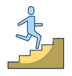 businessman climbing stairs up success business vector image vector image