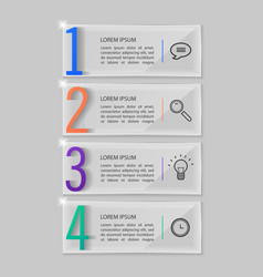 glass plates set infographic design vector image