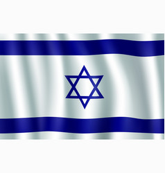 israel flag 3d with star of david vector image
