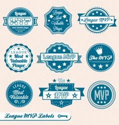 League MVP Labels and Icons vector image vector image