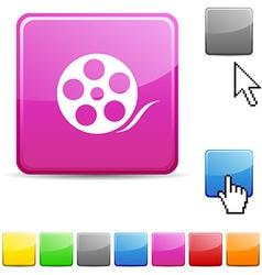 Media glossy button vector