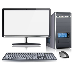 Modern Computer vector image vector image
