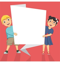 Of Cute Children Holding Origa vector image vector image