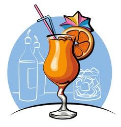 Orange cocktail vector