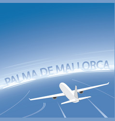 Palma de mallorca flight destination vector