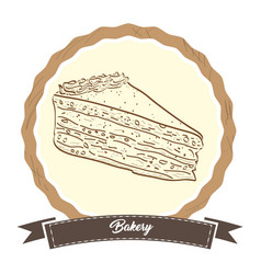 retro bakery product vector image