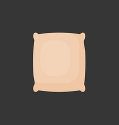 Rice in sackcloth bag flat icon vector
