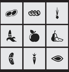 set of 9 editable cookware icons includes symbols vector image vector image