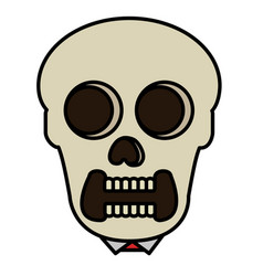 skull head avatar character vector image vector image
