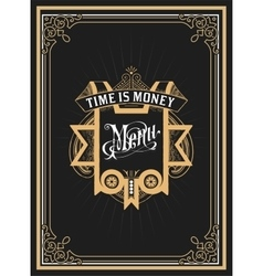 Old menu card vector
