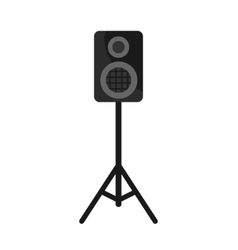 Speakers box on white background icon vector