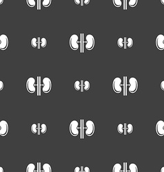Kidneys sign Seamless pattern on a gray background vector image