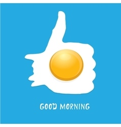 Fried egg  good morning concept vector