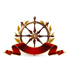 Wheel Emblem vector image