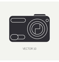 Silhouette flat icon with digital mini vector