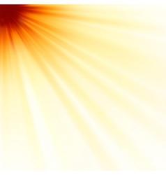 Red luminous rays vector image