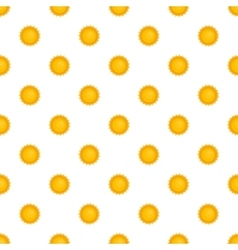 Sun pattern cartoon style vector image