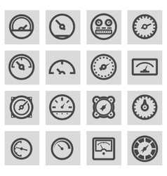 line meter icons set vector image