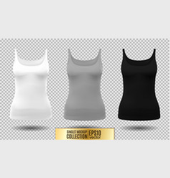 fitness tank top for women vector image