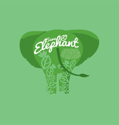 Save elephant conservative concept vector