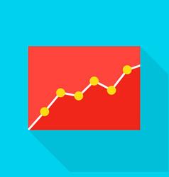 Data analytics flat icon vector