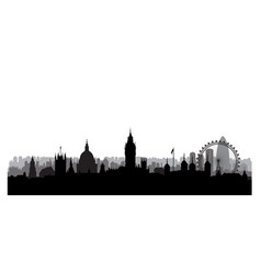 London city skyline with westminster palace and vector
